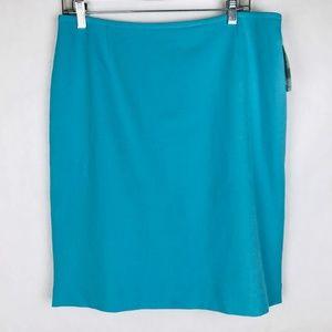 Tahari Arthur Levine Lined Skirt Pool Blue